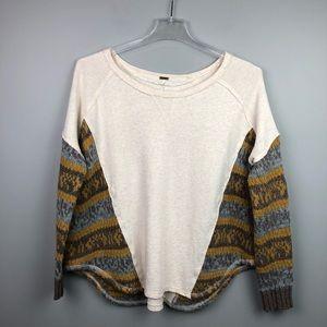 Free People Sweatshirt Sweater Oversized Small
